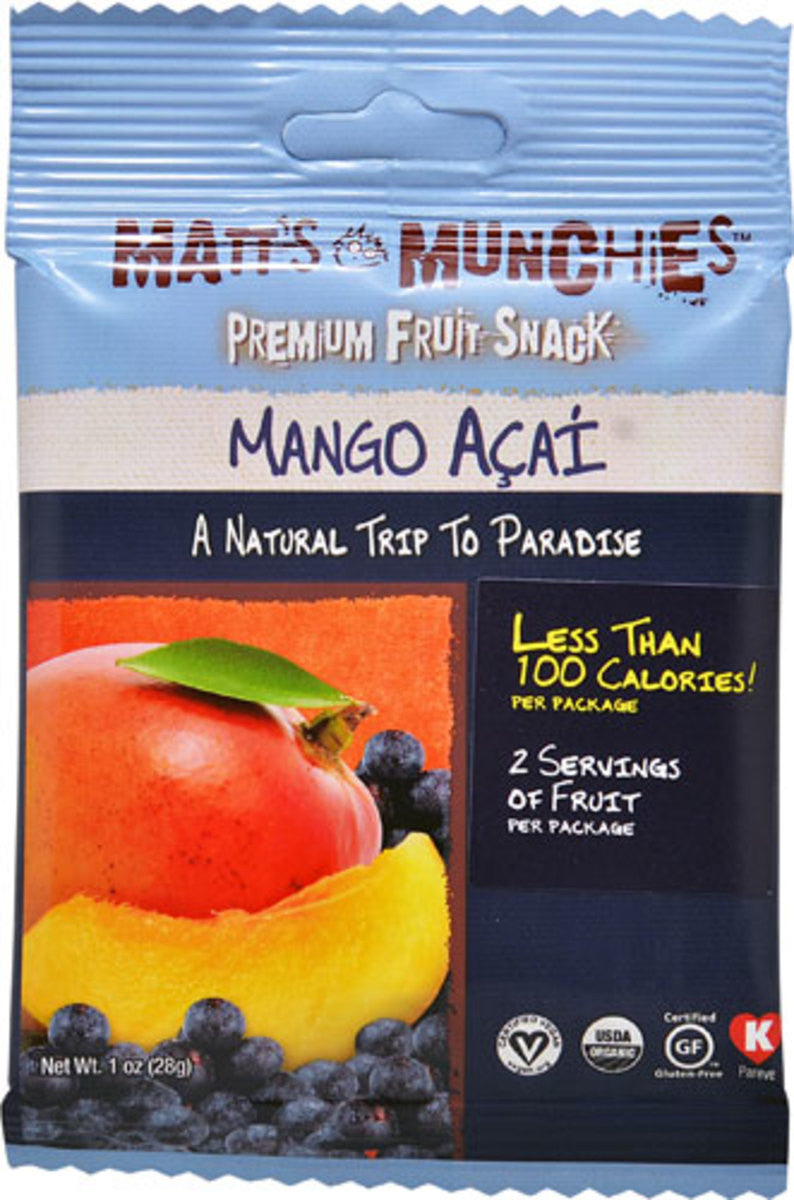 MATTS MUNCHIES MANGO ACAI 12/1OZ