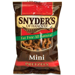 Snyder's of Hanover Fat Free Mini Pretzels Single-Serve Bags (Case of 60 Bags)