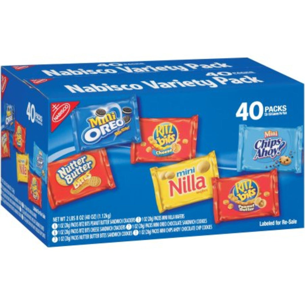 NABISCO MINI VARIETY PACK 40 COUNT