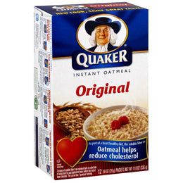 Quaker Original Instant Oatmeal Packets (Box of 48 Packets)