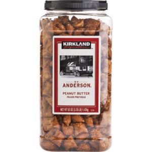 JARS OF PEANUT BUTTER PRETZELS