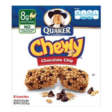 CASE QUAKER CHWEY CHOC CHIP 12/8