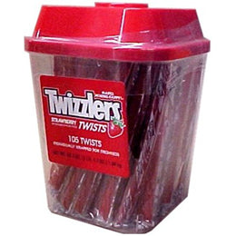 Twizzlers Individually-Wrapped Twists (Tub of 108)