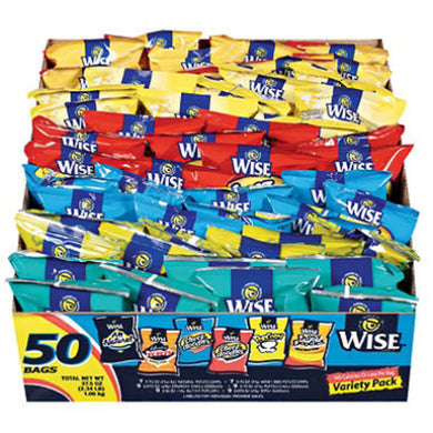 WISE VARIETY PACK 50 COUNT