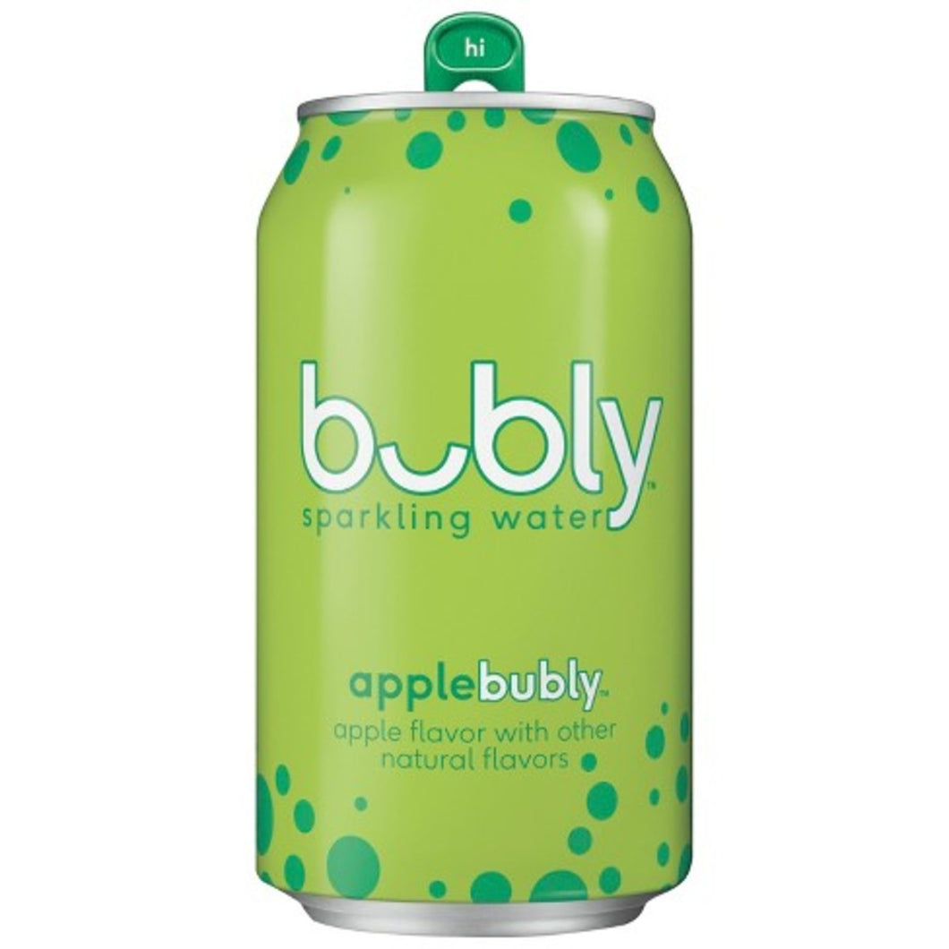 BUBLY SPARKLING WATER APPLE 8/12OZ