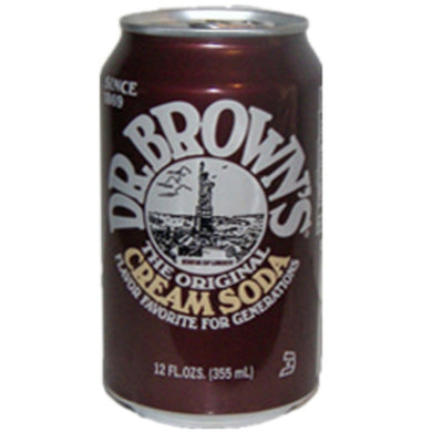 Dr Brown Cream Soda (12 oz cans)