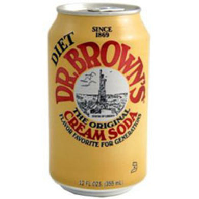 Dr Brown Diet Cream Soda (12 oz cans)