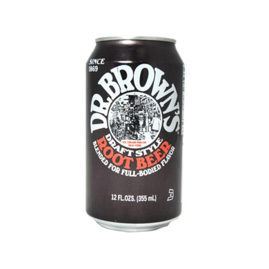 DR BROWN**REGULAR**ROOT BEER SODA