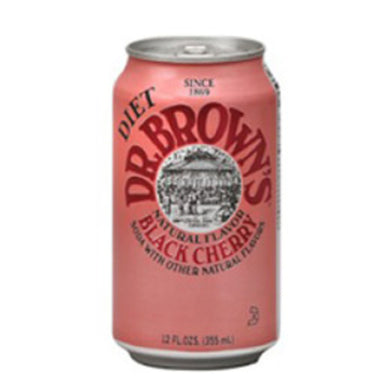 Dr Brown Diet Black Cherry (12 oz cans)