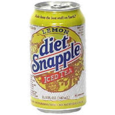 DIET**CANS OF**SNAPPLE **ICE TEA