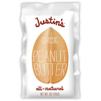 Justin's Classic Peanut Butter Squeeze Packs (Box of 10 Single-Serve Packs)