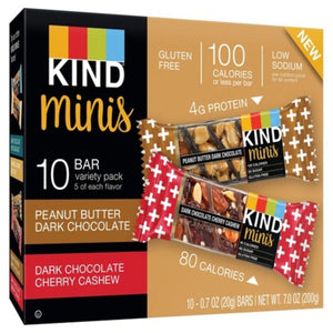 KIND BAR MINI VARIETY PACK 10/.7OZ