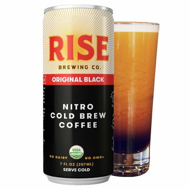 RISE BLACK NITRO COLD BREW 12/7OZ