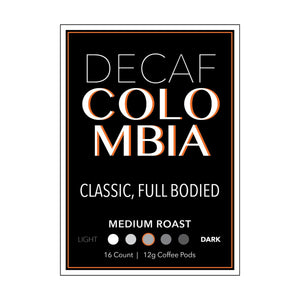 ECC DECAF COLOMBIA PODS 6/16 CT