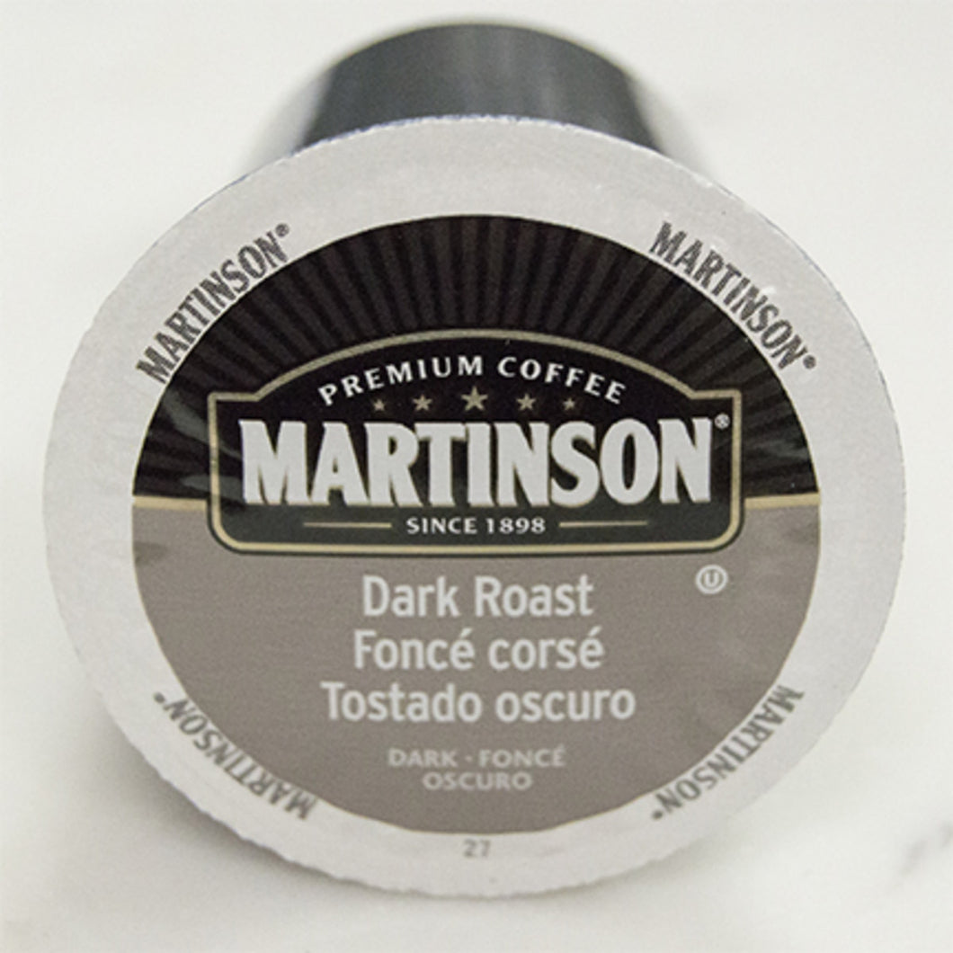 Martinson Dark Roast Coffee Pods (Box of 24)