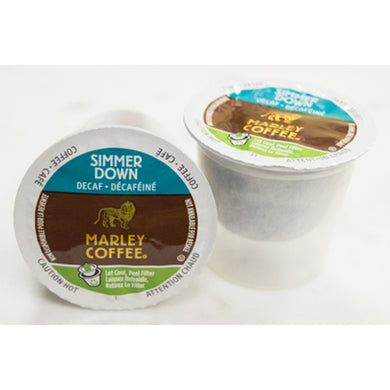 Marley Coffee Simmer Down Decaf Coffee Pods (Box of 24)