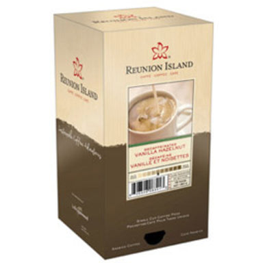Reunion Island Decaf Vanilla Hazelnut Coffee Pods (Case of 108 Pods)