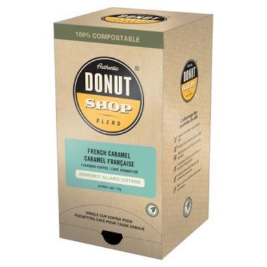 Reunion Island Donut Shop French Caramel Coffee Pods (Case of 96 Pods)