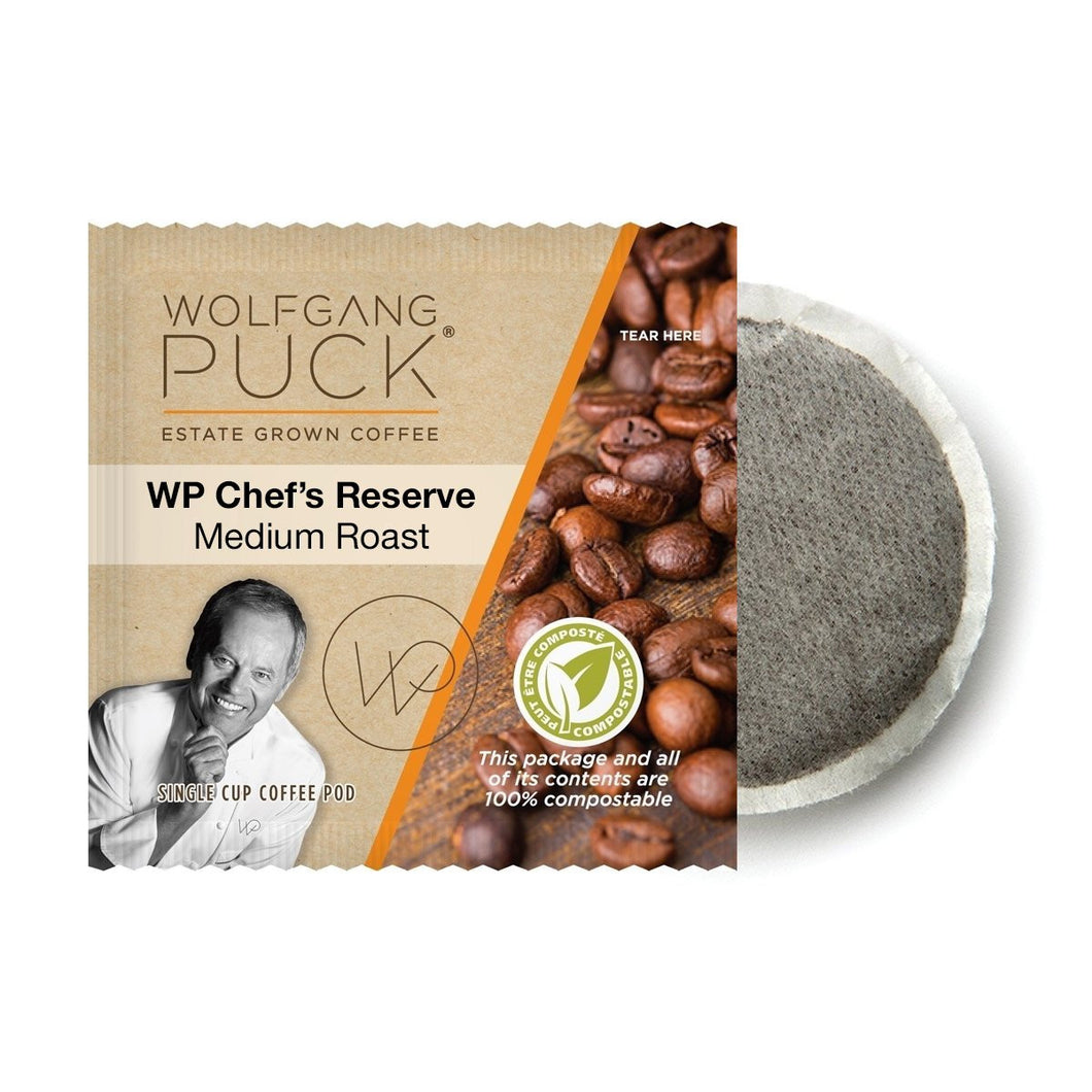 Wolfgang Puck Chef's Reserve Coffee Pods (Case of 108)