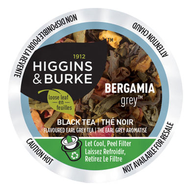 Higgins & Burke Bergamia Grey Black Tea Pods (Box of 24)