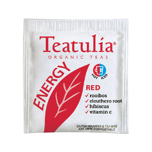 TEATULIA ENERGY RED TEA BAGS 50CS