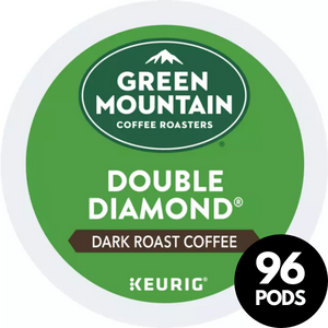Green Mountain Coffee Roasters Double Black Diamond Dark Roast Coffee KCups (Case of 96)