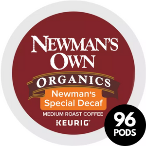 Newman's Own Fair Trade Special Blend Extra Bold Decaf KCups (Case of 96)