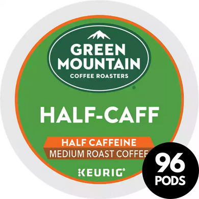 Green Mountain Coffee Roasters Half-Caff Coffee KCups (Case of 96)