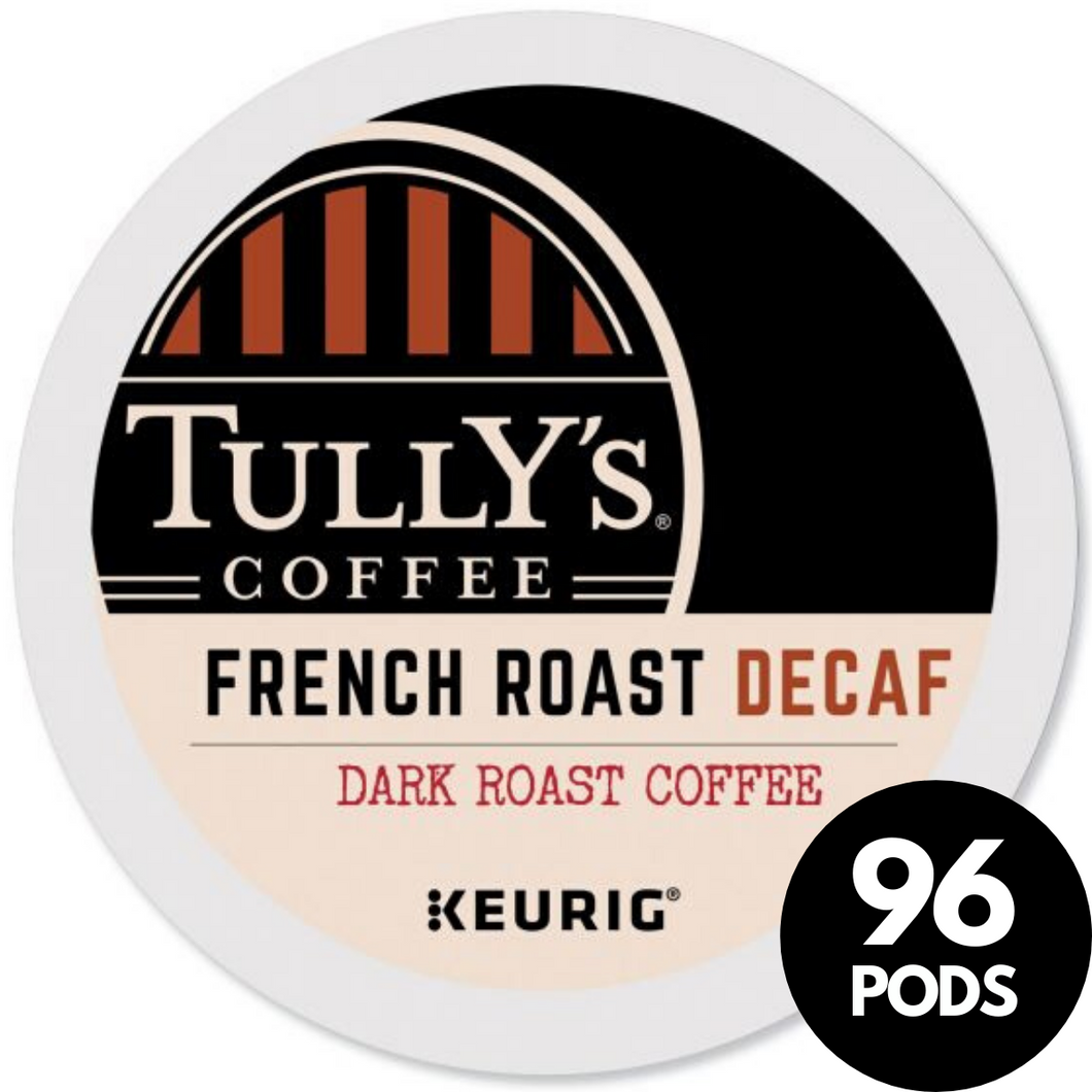 Tully's Coffee Decaf French Roast KCups (Case of 96)
