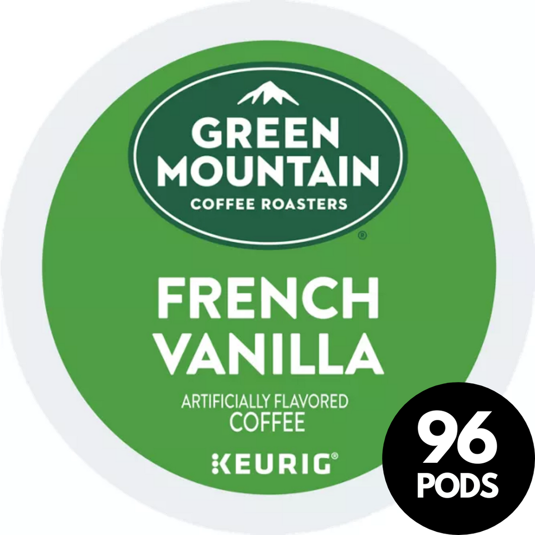 Green Mountain Coffee Roasters French Vanilla KCups (Case of 96)