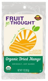 Fruit for Thought Organic Dried Mango Single-Serve Bags (Box of 48 Bags)