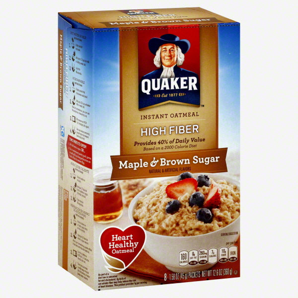 Quaker Maple Brown Sugar Oatmeal Packets (Case of 48 Packets)