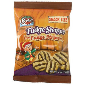 Keebler Fudge Shoppe Mini Fudge Stripes Snack Size Cookies (Case of 60 Bags)