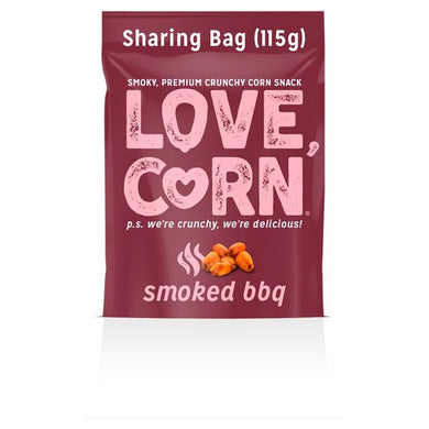 Love Corn Smoked BBQ Corn Snacks (Case of 100 Single-Serve Bags)