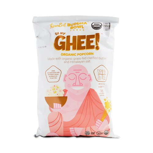Buddha Bowl Oh My Ghee! Single-Serve Popcorn Bags (Case of 18 Bags)