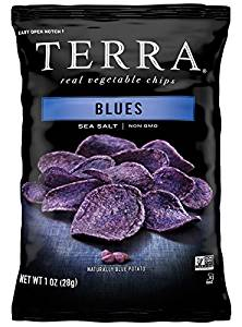 TERRA Blues Sea Salt Chips Single-Serve Bags (Box of 24 Bags)
