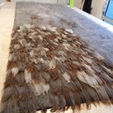 Hand Made Felted Alpaca Rug - NZ Summerhill Signature Move Grey Lady - Wild Wool Gallery