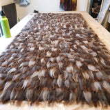 Hand Made Felted Alpaca Rug - NZ Summerhill Signature Move Grey Lady