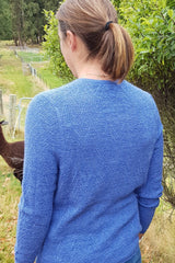 Alpaca Fibre Chevron Pattern Jumpers - Wedgewood