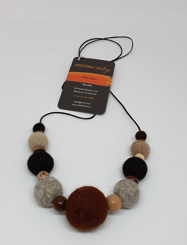 Alpaca Felted Necklace