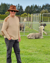 Alpaca Fishermans Rib Knit Jumper