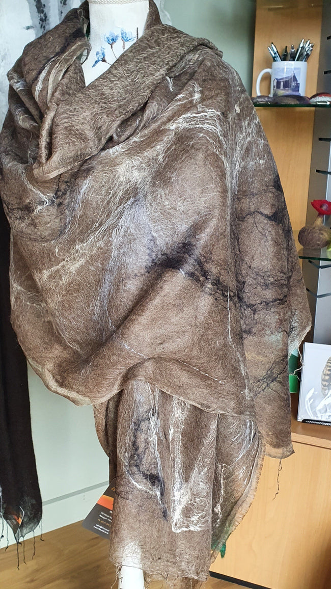 Large Felted Alpaca/Silk Shawls - Wild Wool Gallery