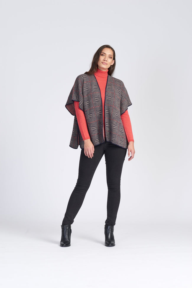 Alpaca Plaid Cape (Short) - Wild Wool Gallery