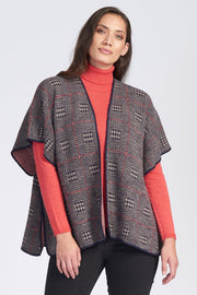 Royal Alpaca Plaid Cape (Short)