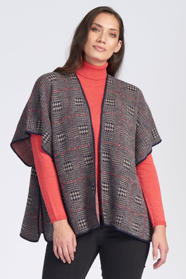 Alpaca Plaid Cape (Short)