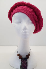 New Zealand made Alpaca Beret - Azalea