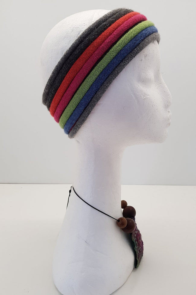New Zealand made Alpaca Headbands - Bright