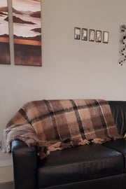 Canterbury Check Alpaca Blanket/Throw