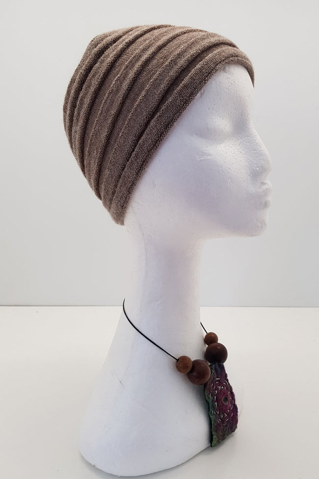 New Zealand made Alpaca Headbands - Chamois