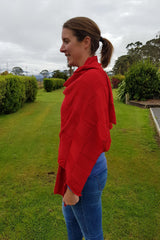 The Chilli Royal Alpaca and Merino Textured Wrap